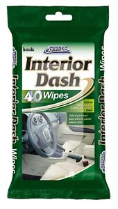 CAR PRIDE 40 INTERIOR DASH BOARD WIPES CARE CLEAN CLEANER RESEALABLE BAG CP008