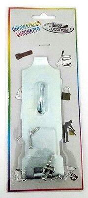 (Jumbo Steel Metal Latch Hasp Padlock Door Guard Security Lock w/ screws NEW)
