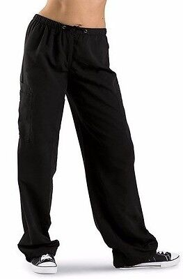 Unisex Hip Hop Cargo Pants - Black - Urban Groove - Size M Dance Jazz