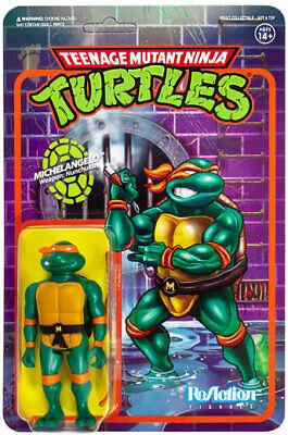 Michelangelo Mutant Ninja Turtle (Michelangelo TMNT Teenage Mutant Ninja Turtle Super 7 ReAction Action Figure)