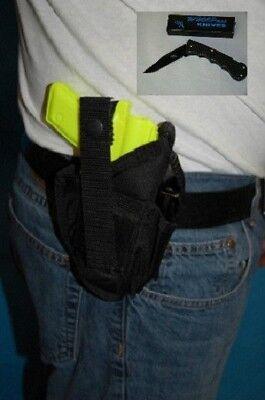 Free Nylon Holster - NYLON BELT GUN HOLSTER FITS  S & W SW9VE, SIGMA 9MM, OWB, FREE KNIFE 304