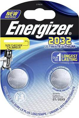 1 x 2er Blister x Energizer CR2032 Ultimate Lithium DR2032 CL2032 3V  Ultimate Lithium Batterien