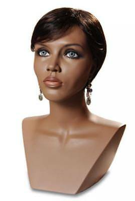 Black Mannequin Head Female Wig Display Heads From Vaudevillemannequins.com