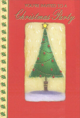 Tree - Package of 8 Christmas Party Invitations - Christmas Party Invitation