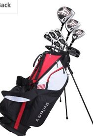 Aspire Golf Clubs + Bag, New and Unused,
