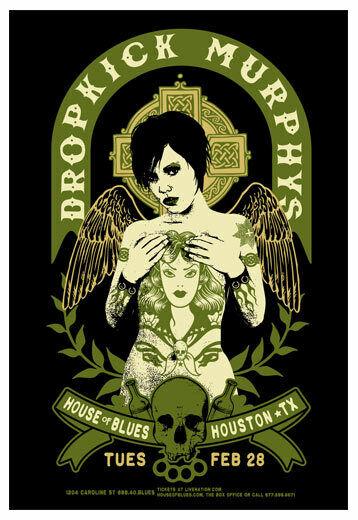 Scrojo Dropkick Murphys House of Blues Houston Texas 2012 Poster Dropkick_1202