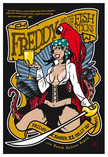 Scrojo Freddy and Fishsticks Jimmy Buffett Poster 06 Freddie_0612