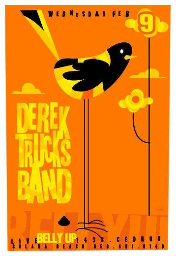 Scrojo Derek Trucks Band Belly Up Tavern 2005 Poster DerekTrucks_0502