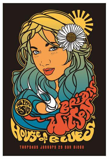 Scrojo Brian Wilson 2009 Poster House of Blues San Diego Wilson_0901