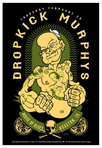 Scrojo Dropkick Murphys House of Blues Houston Texas 2013 Poster Dropkick_1302