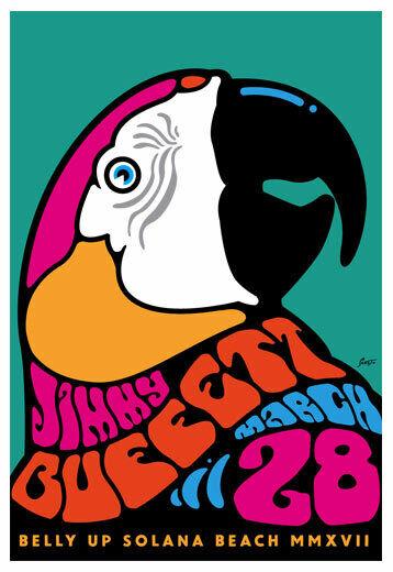 Jimmy Buffett March 28 2017 Belly Up Tavern Solana Beach Concert Poster
