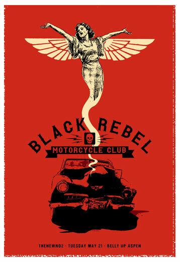 Scrojo Black Rebel Motorcycle Club 2013 Poster Belly Up Aspen CO BlackRebel_1305