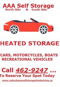 Heated Storage- Book Now and Save 15%-  Call  506- 451-5730