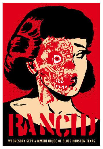 Scrojo Rancid House of Blues Houston Texas 2013 Poster Rancid_1309