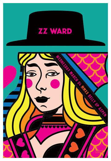 Scrojo ZZ Ward Belly Up Aspen Colorado 3/4/2020 Poster ZZWard_2003