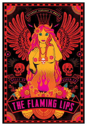 Scrojo The Flaming Lips 2019 Poster Belly Up Aspen Colorado FlamingLips_1902