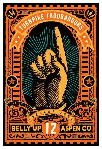 Scrojo Turnpike Troubadours 2018 Poster Belly Up Aspen Colorado Turnpike_1806
