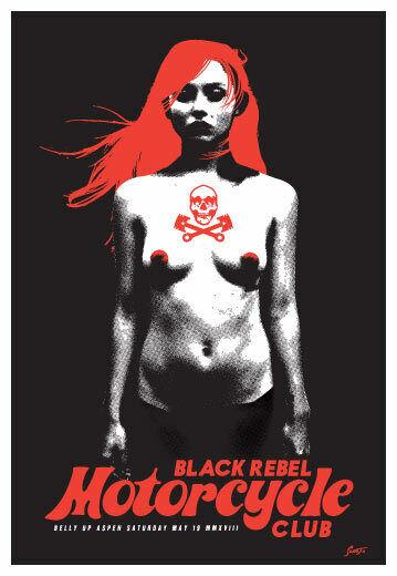 Scrojo Black Rebel Motorcycle Club 2018 Poster Belly Up Aspen Colorado BRMC_1805