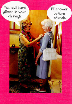 Two Women Still Have Glitter Funny  Humorous Hallmark Birthday Card for Her](Glitter Birthday)