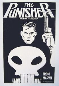 Original-1987-Punisher-Marvel-Comics-17-x11-comic-book-art-promo-poster-1-1980s