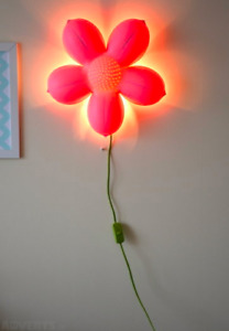 IKEA Girls Flower Wall Lamps x 2