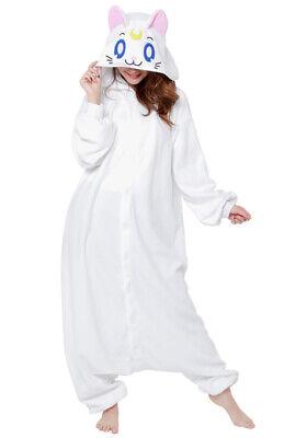 SAZAC SAILOR MOON ARTEMIS KIGURUMI WHITE CAT COSTUME  (Artemis Costumes)