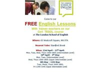 FREE ENGLISH LESSONS - The London School of English - W6 0TA