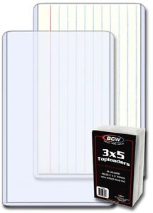 25 BCW 3 x 5 PHOTO / INDEX CARD HARD PLASTIC TOPLOAD HOLDERS TOPLOADERS ***