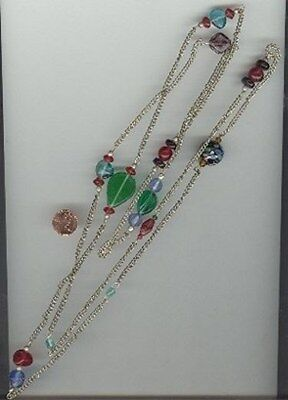 1 VINTAGE SILVER PLATED BEADED CHAIN 60