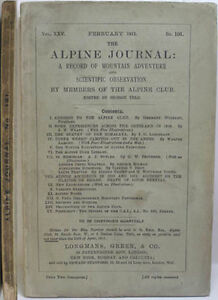 1911-ALPINE-JOURNAL-191-A-RECORD-OF-MOUNTAIN-ADVENTURE-SCIENTIFIC-OBSERVATION