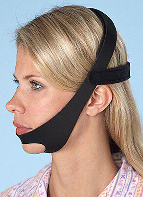 CPAP Chin Strap Belt Restraint Black Support for CPAP sleep apnea Anti Snore