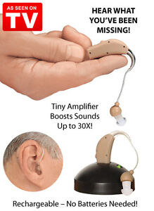 As Seen On TV MSA30X Sound Amplifier Ear Aid Rapid Charger Rechargeable OPEN BOX