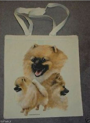 Pomeranian Dogs Design Printed Shopping Tote Bag
