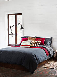 Housse couette chambray jean simons grand lit queen lit