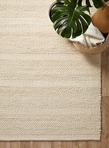 BRAND NEW EQ3 AREA RUG NATURAL WOOL 5X8