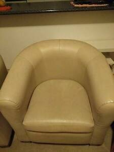 Leather white/biege armchairs - Commercial quality Burwood Burwood Area Preview