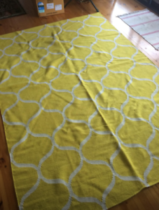 Wool Yellow Large Floor Rug