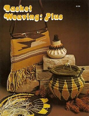 Basket Weaving Plus Vintage Instruction Pattern Book Booklet 1977 NEW