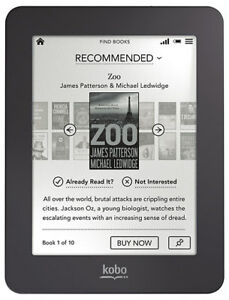 Kobo Mini eReader 2GB Wi-fi 5 Inch White with Purple Case