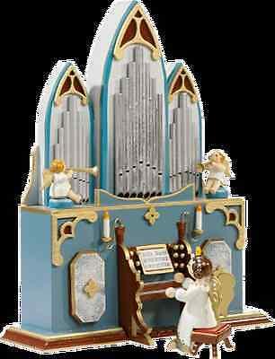 Rothenburger Weihnachtswerkst Orgelspieler Engel Spieluhr/Spieldose Stille Nacht