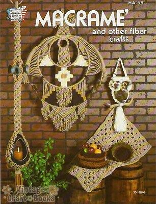 Macrame and Other Fiber Crafts Vintage Project Instruction Book NEW 1977 Rug