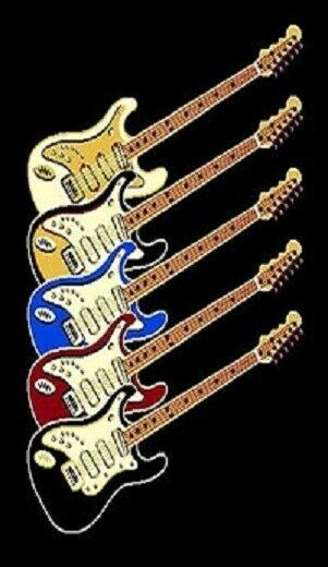 5' X 8' ELECTRIC GUITAR 3 THEMED MUSIC ROOM AREA RUG NOVELTY Rock N Roll BLACK