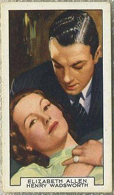 Elizabeth Allan + Wadsworth 1935 Gallaher Tobacco Card FP#32 Mark of the Vampire