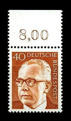 BUND Heinemann  40 Pf. **, Mi. 639 - Oberrandmarke