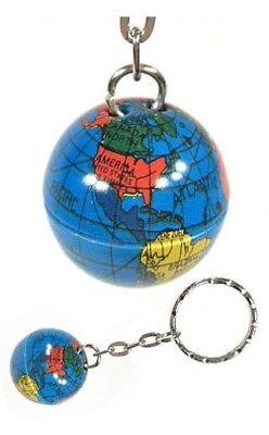 Globe Metal Keychain Vintage World Map New - 2 - Ball Metal Keychain