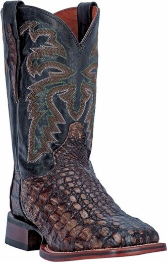 Mens, NEW, DP3860, Dan, Post, Black, Caiman, Alligator, Cowboy, Boot, Square, Toe, BLOWOUTS!