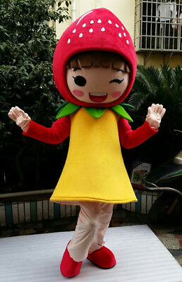 2018 Fruit Strawberry Mascot Costume Cartoon Character Adult For Halloween Gift