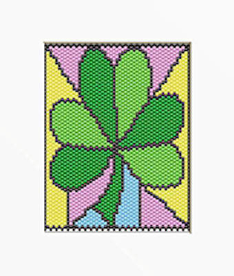 SHAMROCK FOR ST. PATRICK'S DAY PONY BEAD BANNER PDF PATTERN ONLY