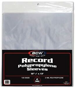 1-Case-of-1000-BCW-Brand-Plastic-Outer-33-RPM-LP-Vinyl-Record-Album-Sleeves