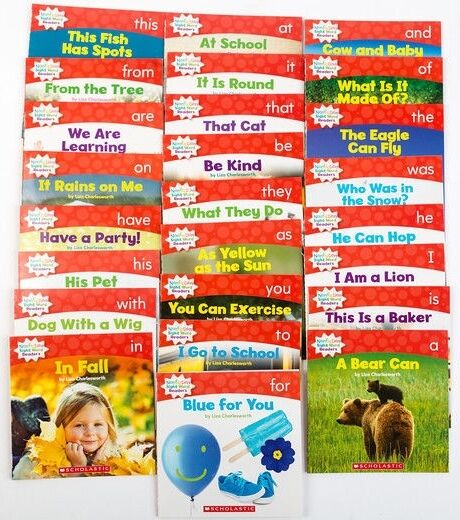 Nonfiction Sight Word Readers Guided Reading Level A Preschool Kindergarten Set
